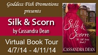 Virtual Book Tour: Silk & Scorn by Cassandra Dean book 2 in the Silk Series Decadent Publishing